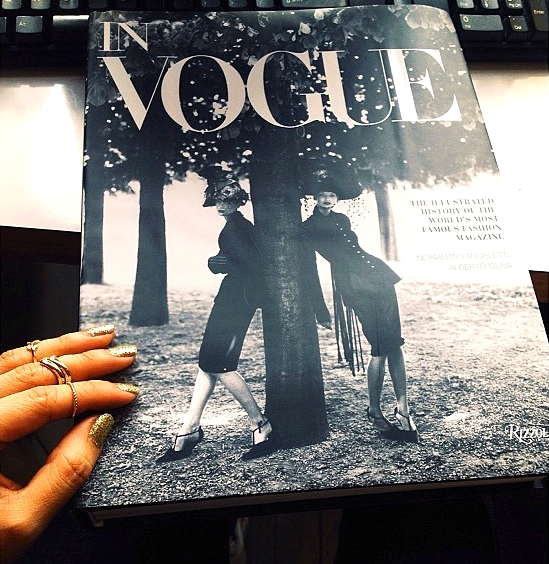 In VOGUE  at my desk.
