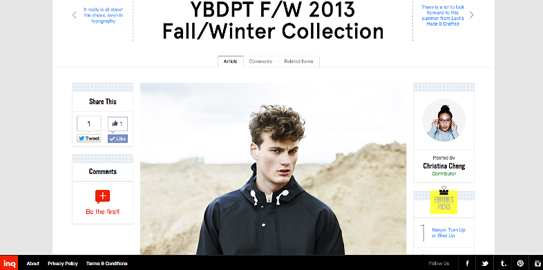 YBDPT FW 2013 collection  http://inqmind.co/2013/01/ybdpt-fw-2013-fallwinter-collection/