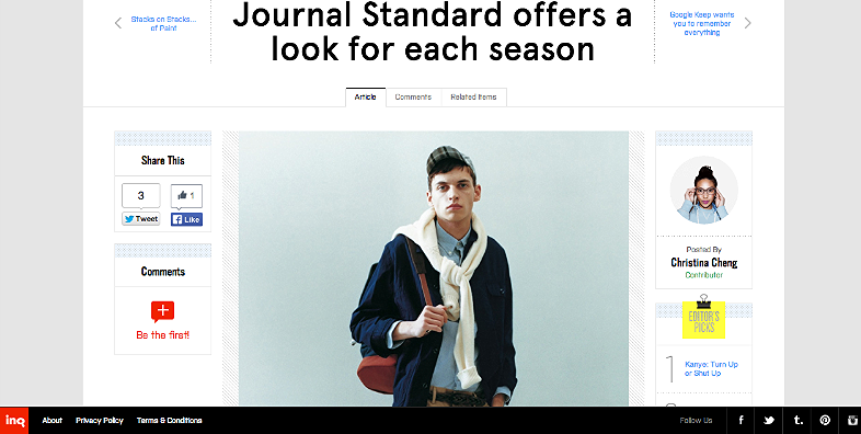 Journal Standard offers a look for each season http://inqmind.co/2013/03/journal-standard-offers-a-look-for-each-season/