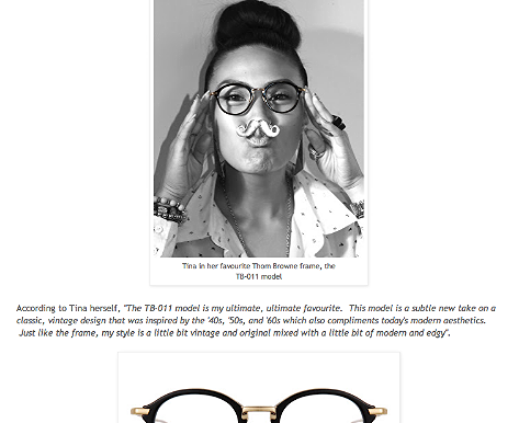 Tina loves Thom Browne: 2013  http://spectaclelovesyou.blogspot.ca/2012/11/tina-loves-thom-browne.html