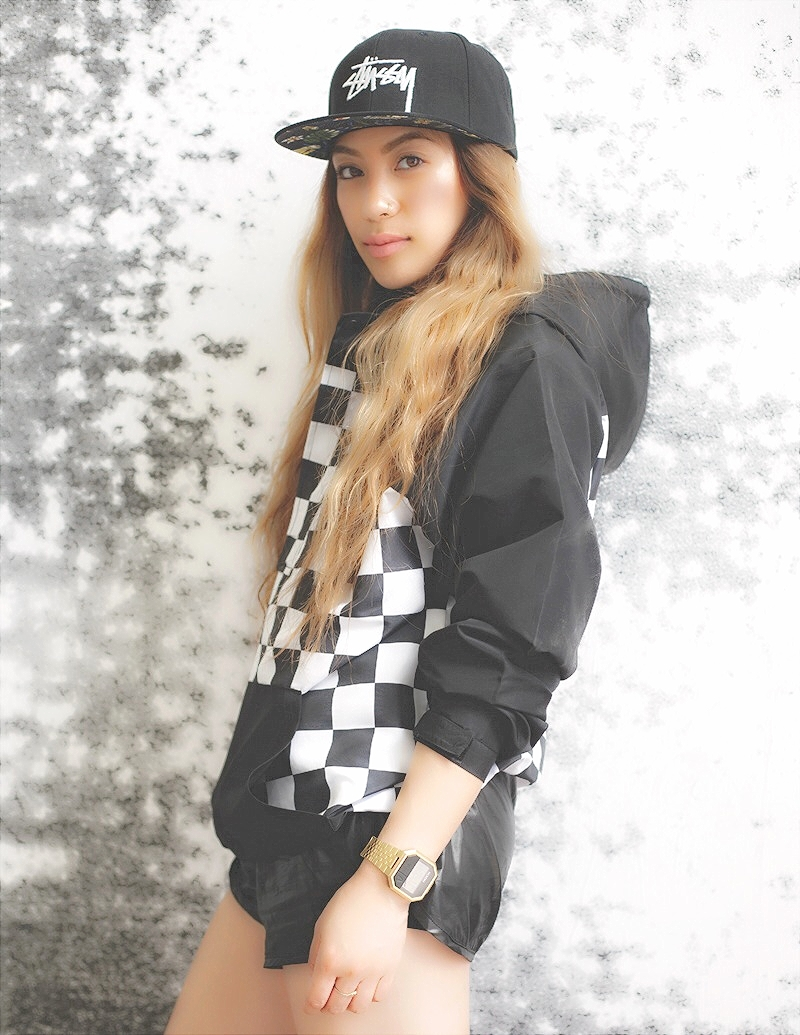 Stussy Men's Stock Hawaii Black Cap x Stussy Men's Check Pullover Jacket Photos courtesy of Robert Okine