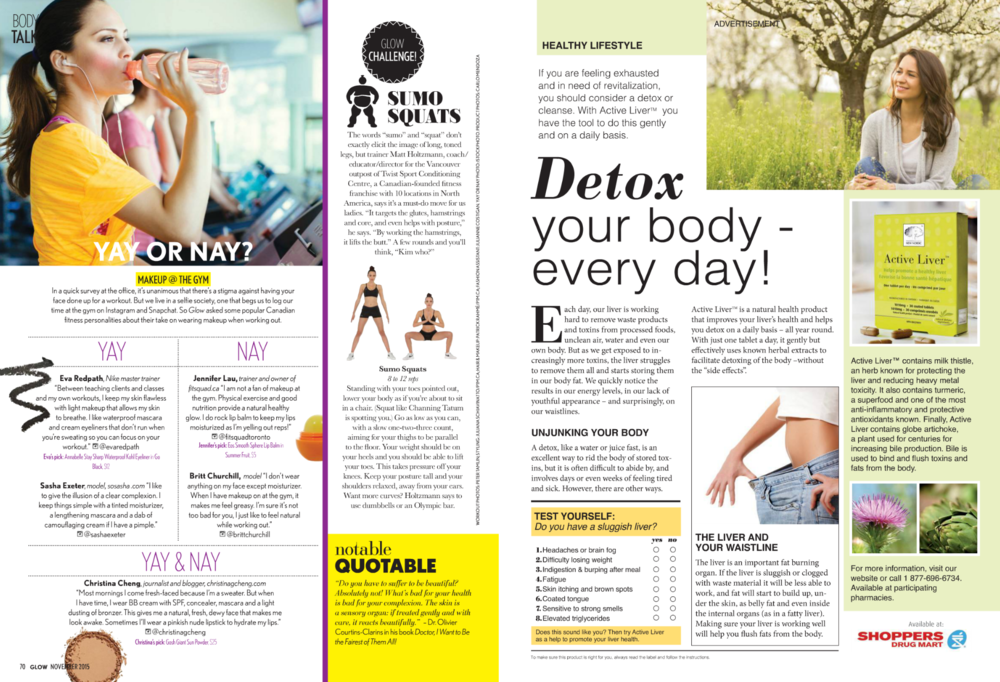Story by Lisa Hannam, Health Editor,  Glow Magazine