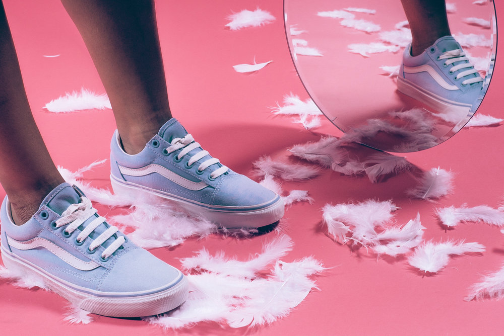 9f559359b82 ... Canvas Old Skool skate shoe in Skyway and Blanc de Blanc. If you looked  up at the sky on a perfect summer s day
