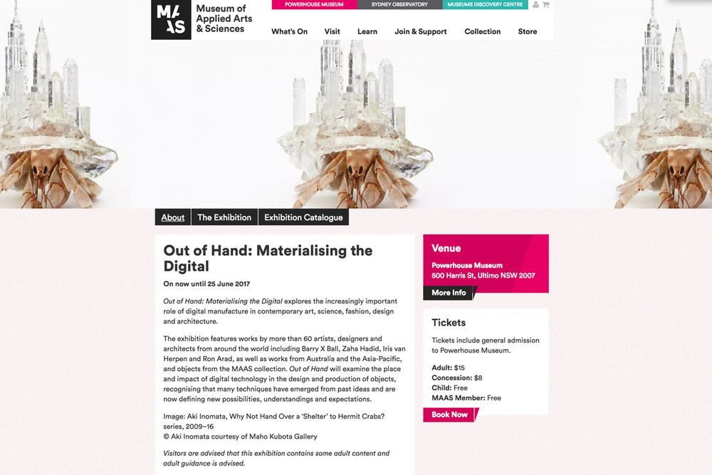Out Of Hand Materialising The Digital Explores The Increasingly Important Role Of Digital Manufacture In Contemporary Art Science Fashion