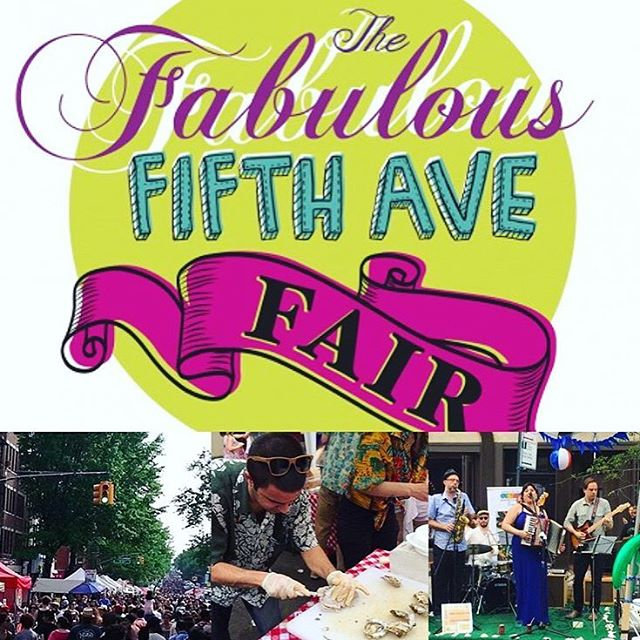 Excited for the Fabulous Fifth Avenue Fair today! Starting at 12 noon and going til 6 PM with food and fun between Sterling Place and 12th Street. Make sure to stop by and see @bombayrickeyband playing in front of @oysterbarbrooklyn at 2 PM! Link below and in bio from @parkslopestoop for more info 🙌🏻🎤🎉 #fabfifthavefair #fifthavenuebid #theother5th #parkslopestoop #oysterbarbk  http://parkslopestoop.com/blog/events/sunday-fabulous-fifth-avenue-fair-food-festive-family-friendly-fixes/