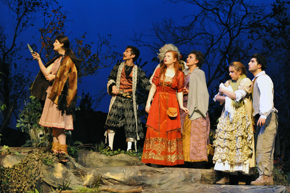 Into the Woods at Santa Barbara High School, Spring 2012. Photo Courtesy of Kristi Sestak
