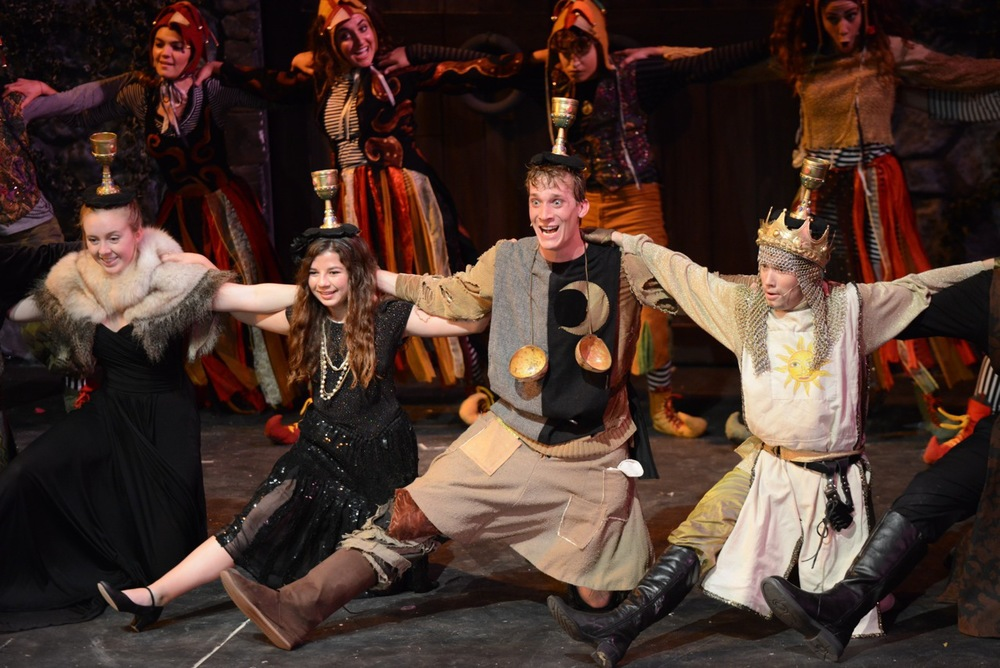 SPAMALOT at Santa Barbara High School, Spring 2013. Photo Courtesy of Kristi Sestak