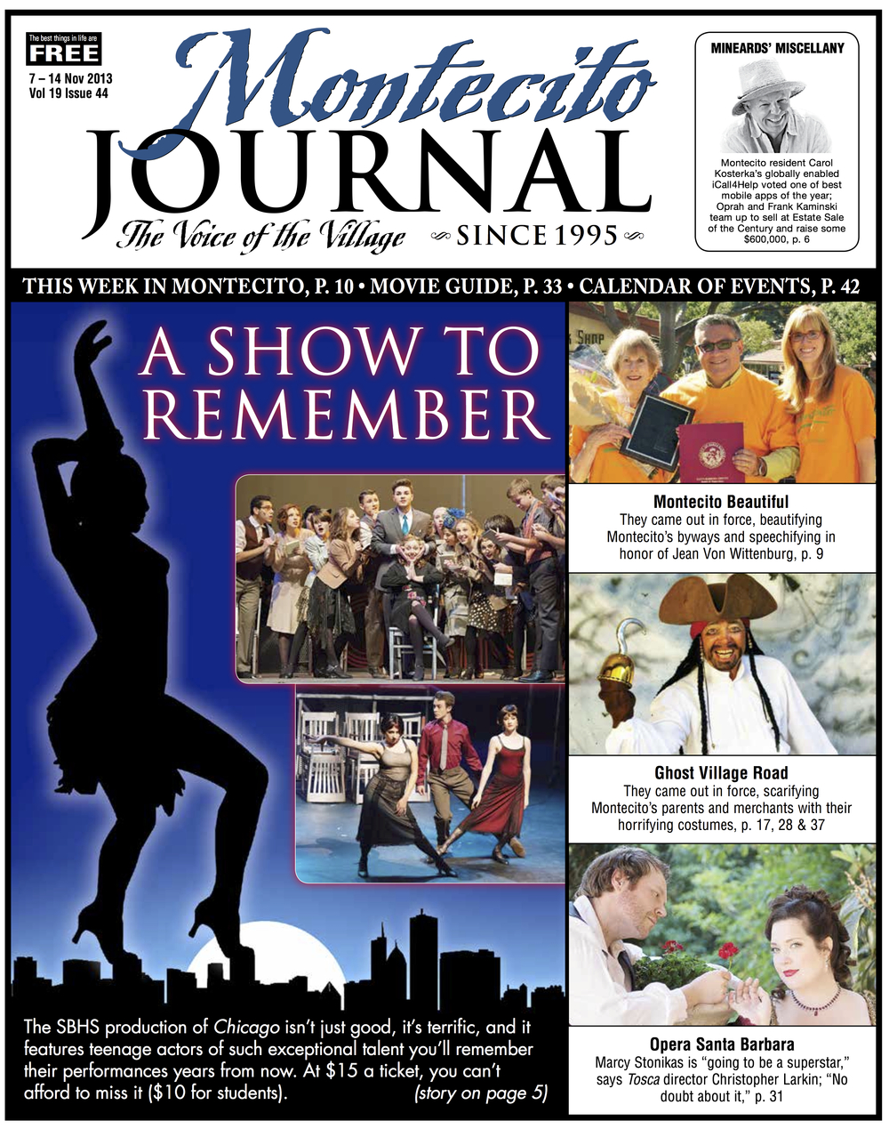 Santa Barbara High School Theatre Chicago Montecito Journal
