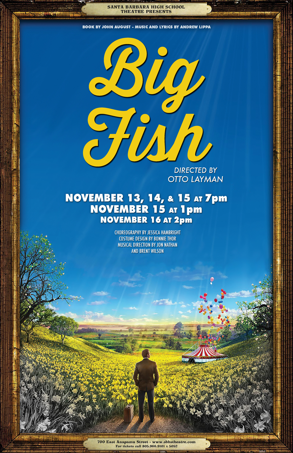 Big Fish Musical SBHS Poster Beau Lettieri