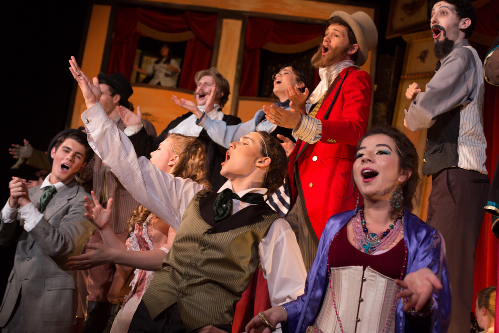 The Mystery of Edwin Drood. The Solve-It-Yourself Musical. Directed by Otto Layman. Santa Barbara High School Theatre. April 24, 2015. Photo: © Isaac Hernández/IsaacHernandez.com