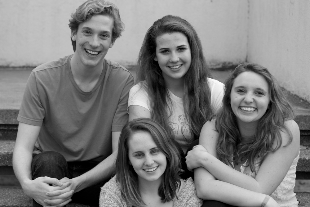 The Directors of Music of the Night 2012: Clayton Barry, Claire Patterson, Savanna Jordan, and McKenna Mender.
