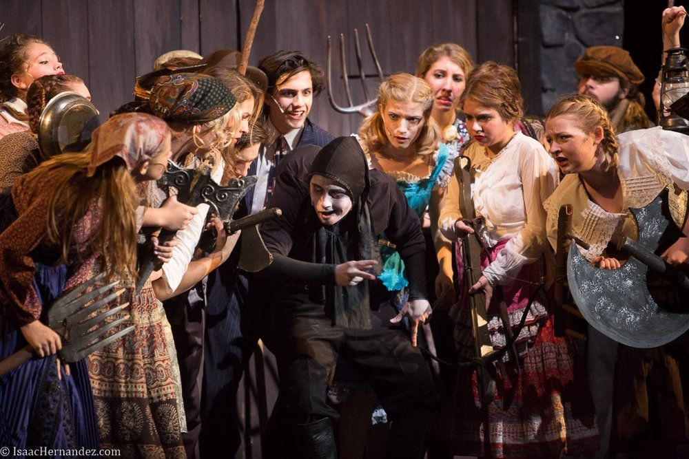 """Transylvania Mania"", Young Frankenstein by Santa Barbara High School Theatre, directed by Otto Layman. November 2016. Photo: copyright © Isaac Hernandez Herrero 2016"