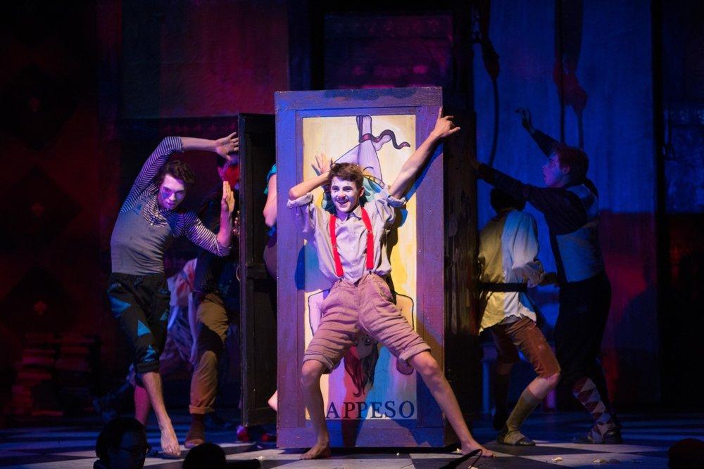 Pippin at Santa Barbara High School Theatre, Fall 2015.