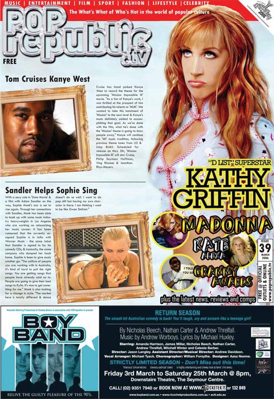 Kathyb Griffin - PopRepublic magazine