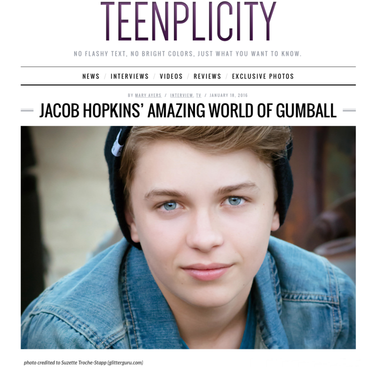 Jacob Hopkins- Teenplicty