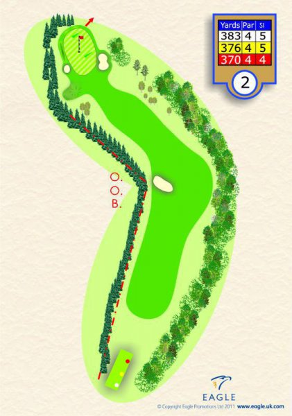 Hole 2 Par 4 (Round the Bend)