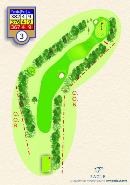 Hole 3 Par 4 (The Bell Ringer)