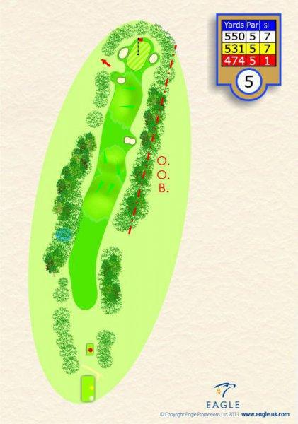 Hole 5 Par 5 (Bridleway)