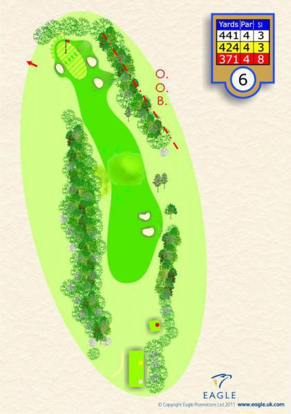 Hole 6 Par 4 (The Dip)