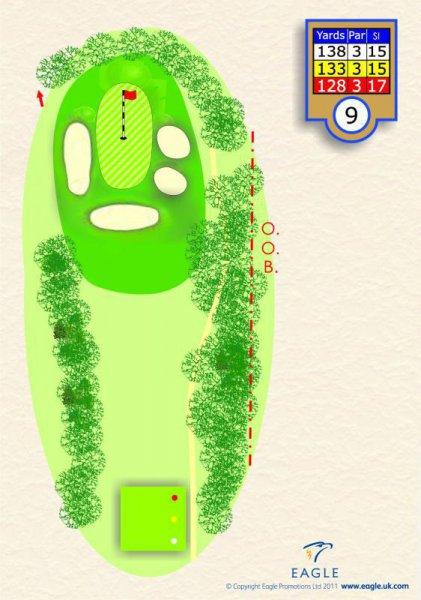 Hole 9 Par 3 (Sandy Par)