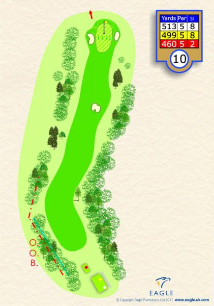 Hole 10 Par 5 (Oak Turn)