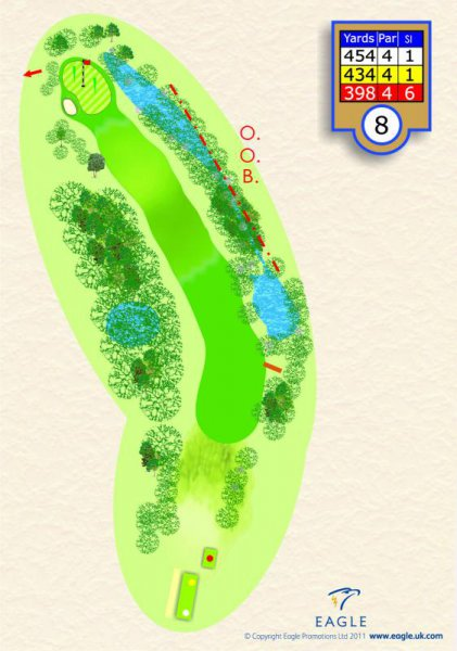 Hole 8 Par 4 (Men) Par 5 (Ladies) (Willow Drive)