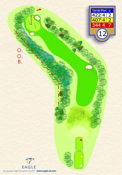 Hole 12 Par 4 (Pond on the Bend)