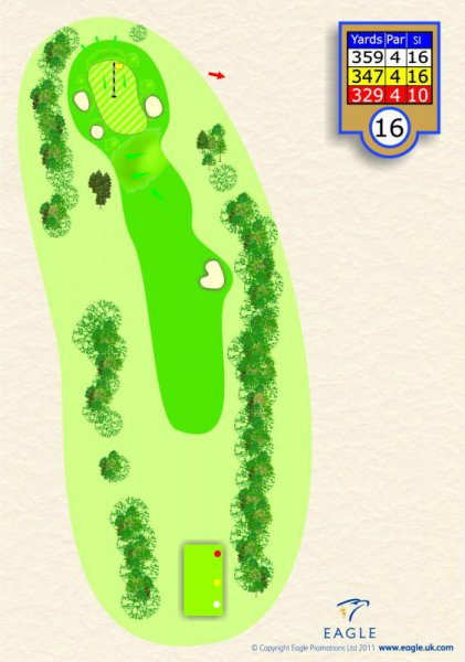 Hole 16 Par 4 (Hepton's Hollow)