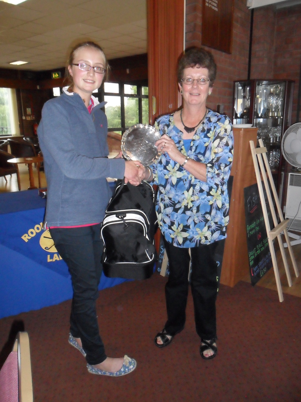 Jessica Buck with Lady Captain Veronica Dawson
