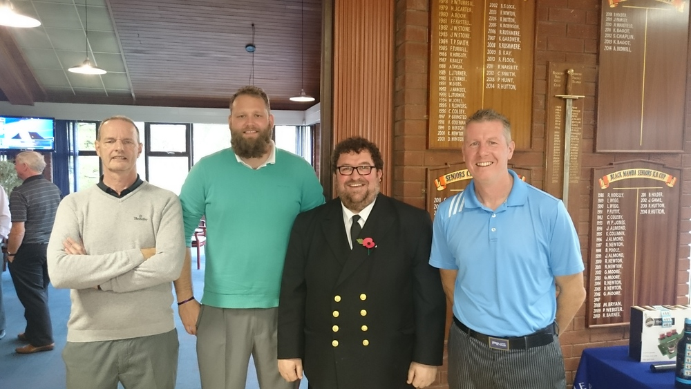 Left to Right: M Scott (Vice-Captain), M Phillips, T Jenkins (Fishermen's Mission), & S Whiteside