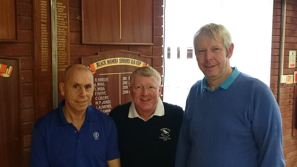 Left to Right; Paul Gardiner, Billy Groves (Captain), Paul Soloman