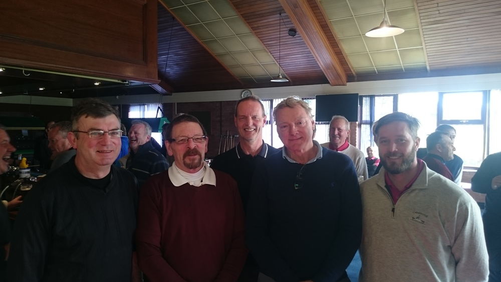 Left to Right: Jim Braniff, Philip Turner, Martin Scott (Vice-Captain), Ray Constantine, & Callum Sheppard