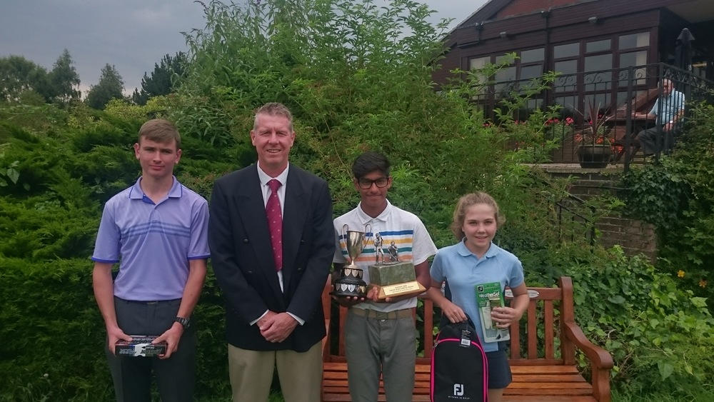Left to Right: Harvey Eade, Steve Whiteside (RPGC Junior Organiser), Habebul Islam, & Mary Cuthbert.