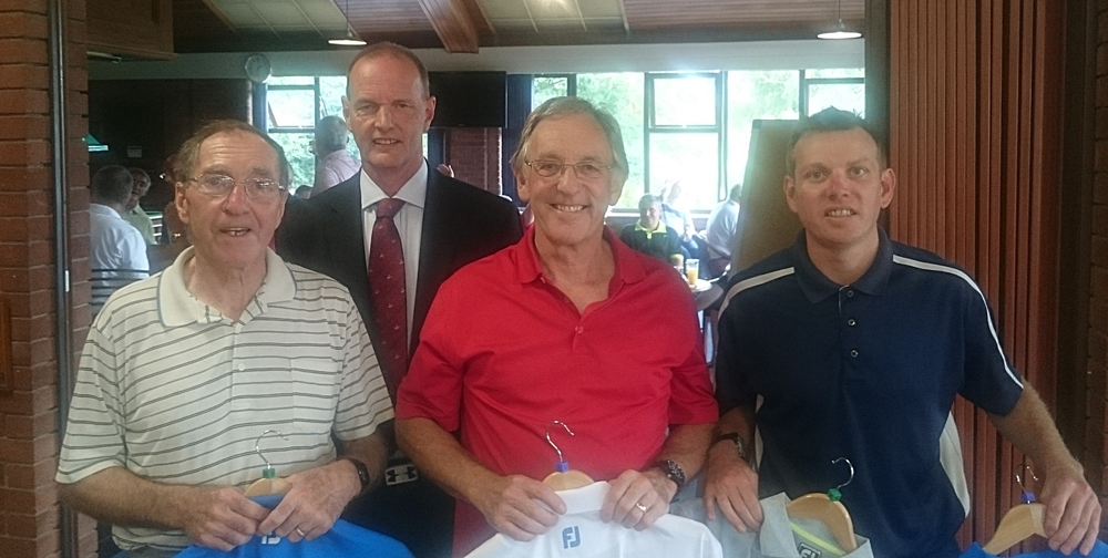 Left to Right: Pat Pawson, Martin Scott (Captain), Mike Woods, & Gary Clow. Missing from photo Colin Tweddell.