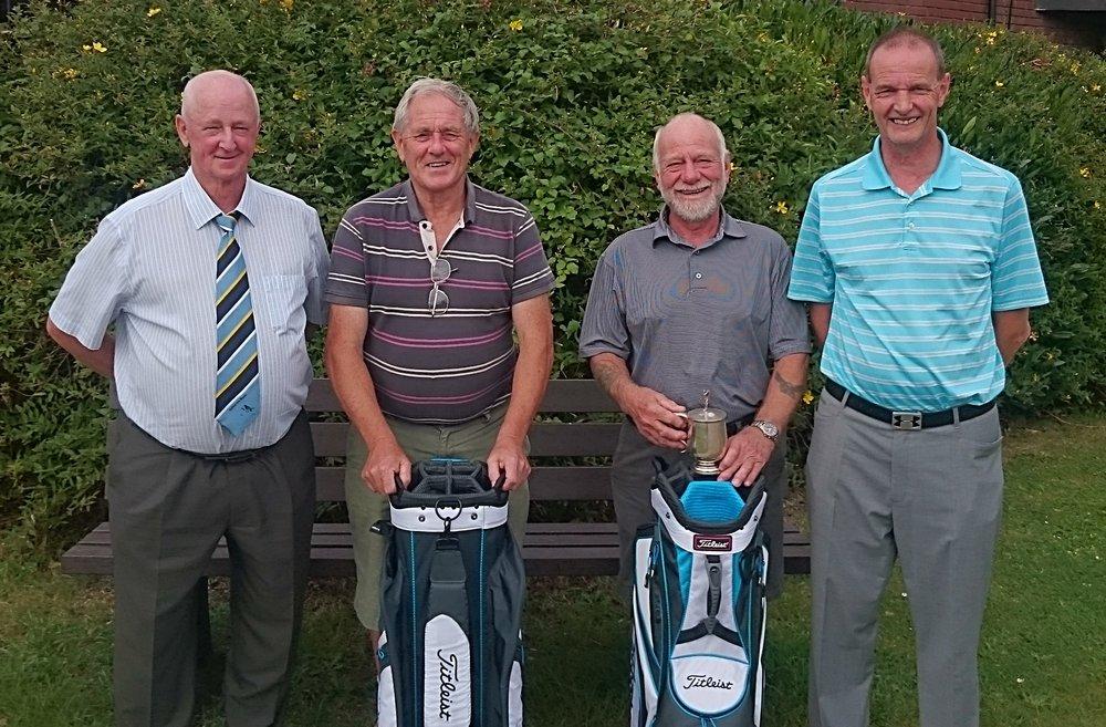 Left to Right: John Game (RPGC Seniors Captain), Richard Walters, Ian Wheeldon, & Martin Scott (RPGC Club Captain)
