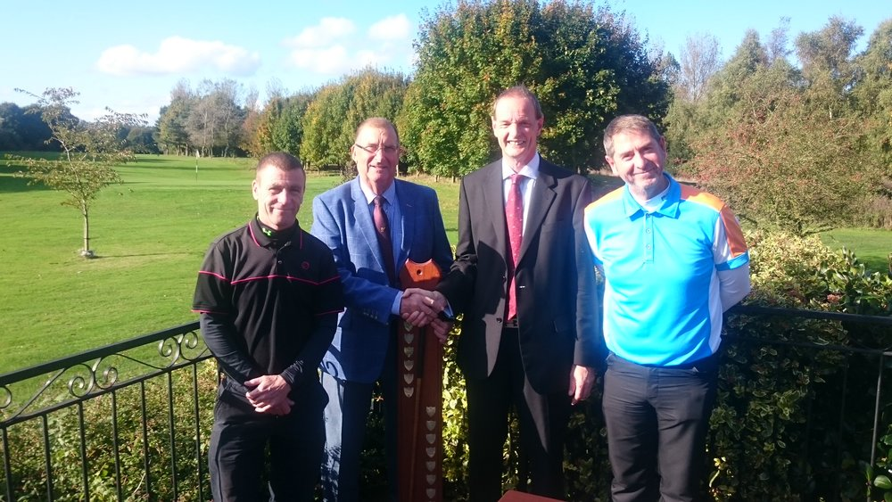 Left to Right: Tony Molloy, Pat Barton (President), Martin Scott (Club Captain), & Ian Foxton