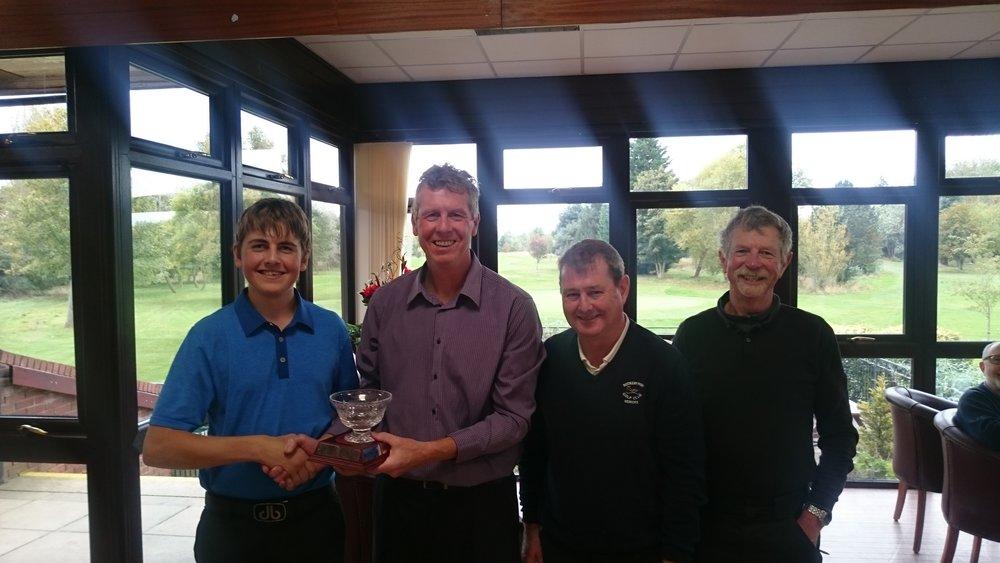 Left to Right: Conal Downing, Steve Whiteside (Junior Organiser), Peter Bunn, & Bernie Allen