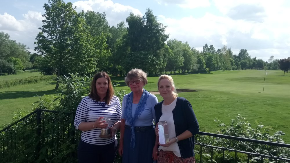 Left to Right: Hannah Rees, Rita mayn (Lady Captain), & Zoe Schofield