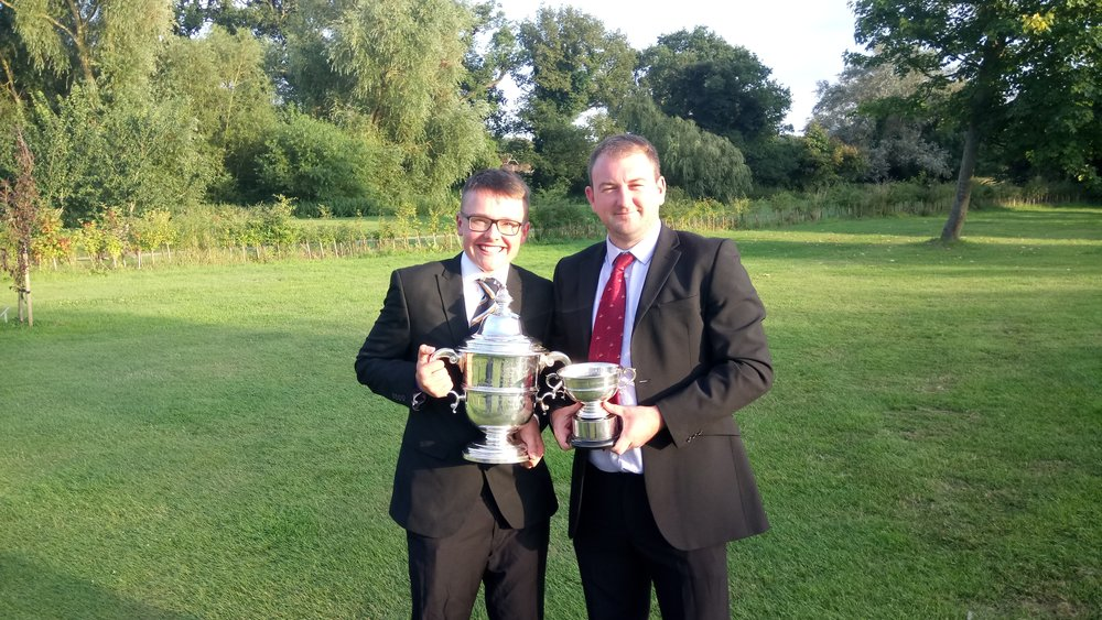 Alfie Halil with Rookery Park Golf Club Captain Stuart Punt