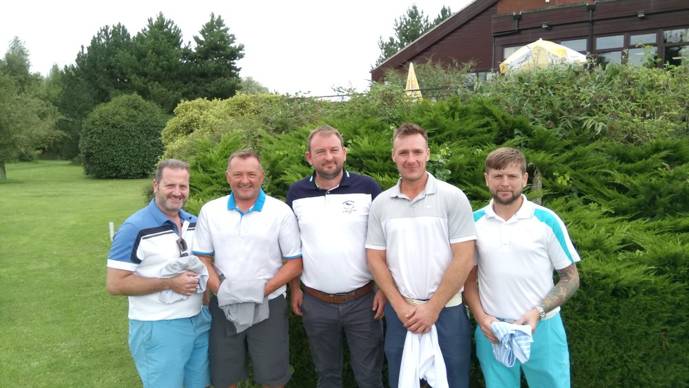 Left to Right: Greg Burgess, Steve Baldwin, Stuart Punt (Club Captain), Shaun Winney, & Lee Humphreys