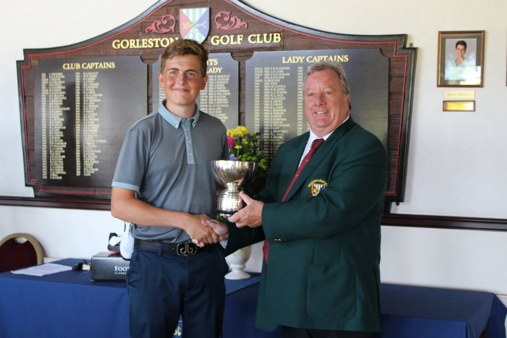 Conal Downing with Gorleston GC Captain Stuart Low