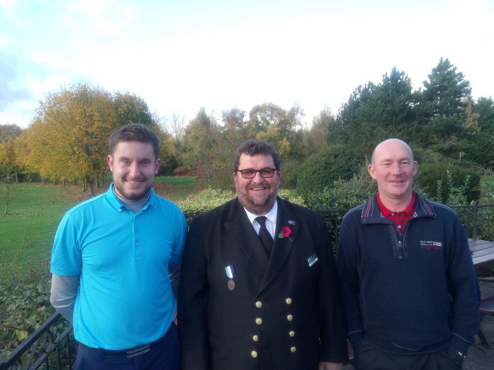 Left to Right: James Hogg, Tim Jenkins (Fishermen's Mission), & Stephen Morris