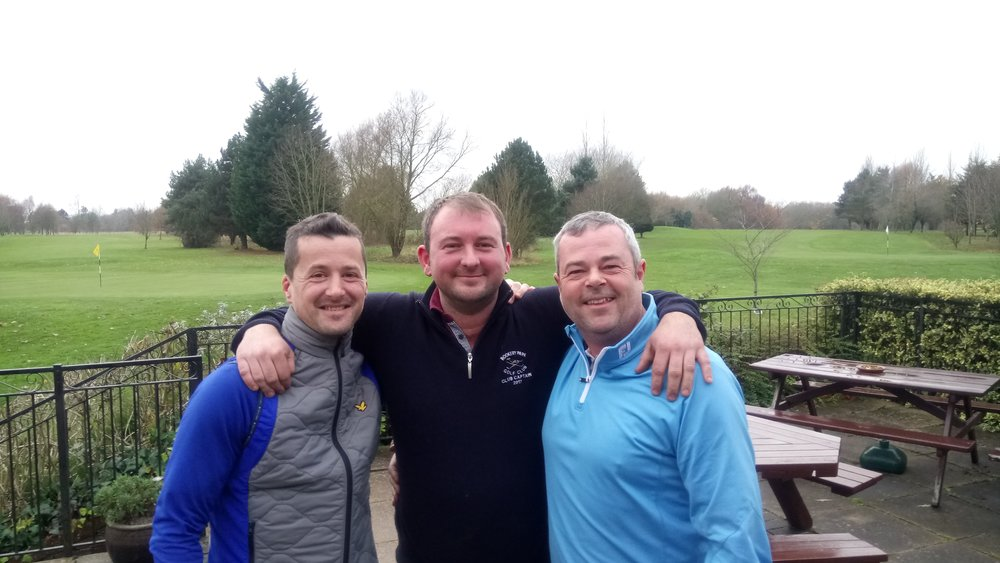 Left to Right: Graham Garrod, Stuart Punt (Club Captain), & Gordon Maclean
