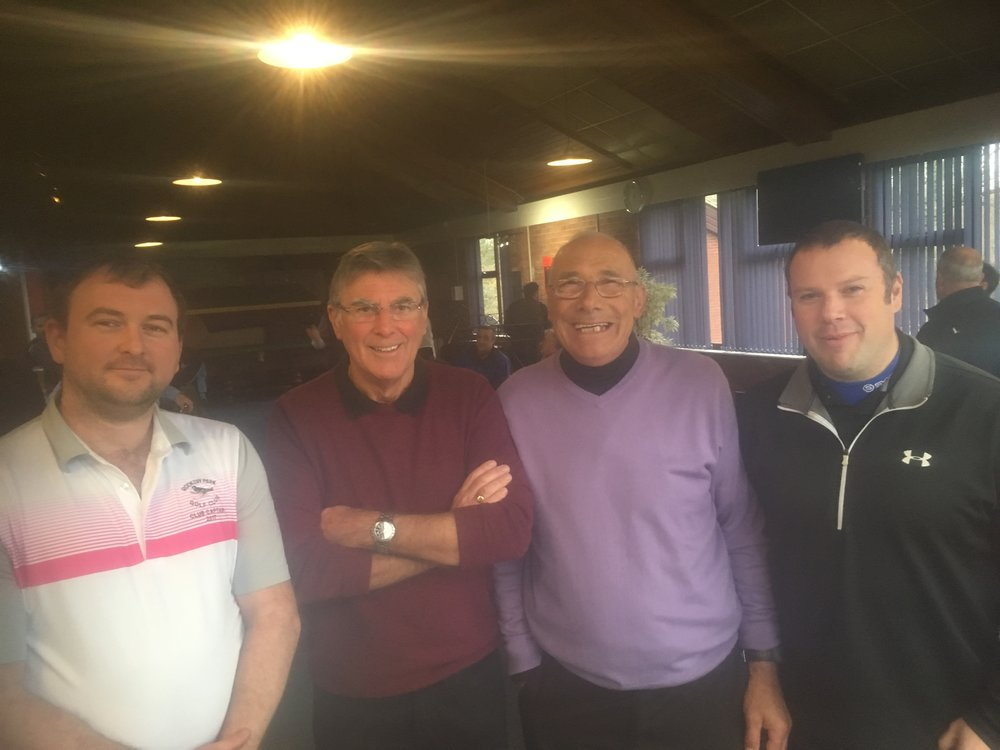 Left to Right: Stuart Punt (Club Captain), Ralph Flatt, Mick Varley, & Ian Cook. Kenny Sansom missing from Photo.