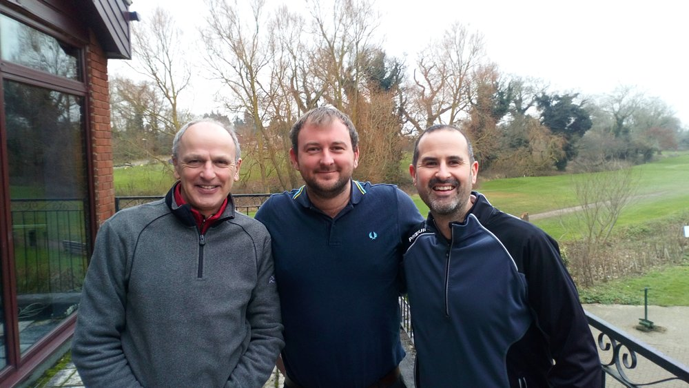 Left to Right: Simon West, Stuart Punt (Club Captain), & Ian Howlett