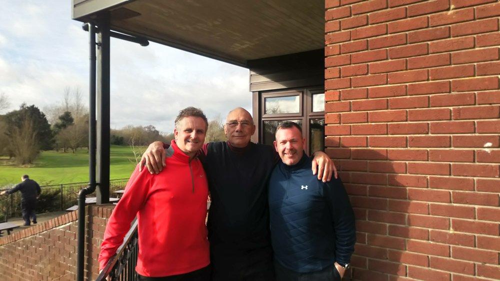 Left to Right: Stephen Powell, Mick Varley (RPGC Vice-Captain), & Stuart Mortimer