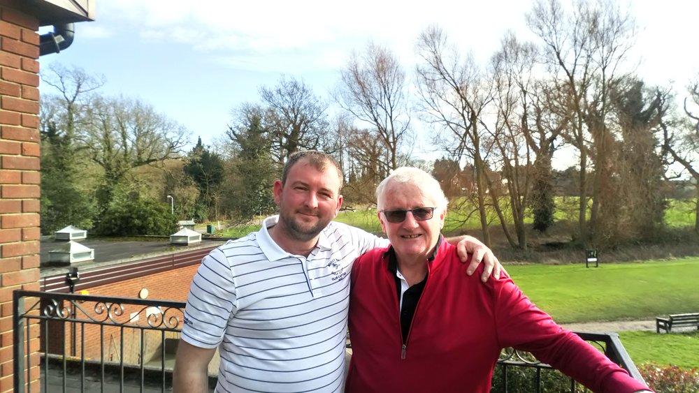 Left Stuart Punt (RPGC Captain), right Micky Dolan. Missing from picture Karl Bowler