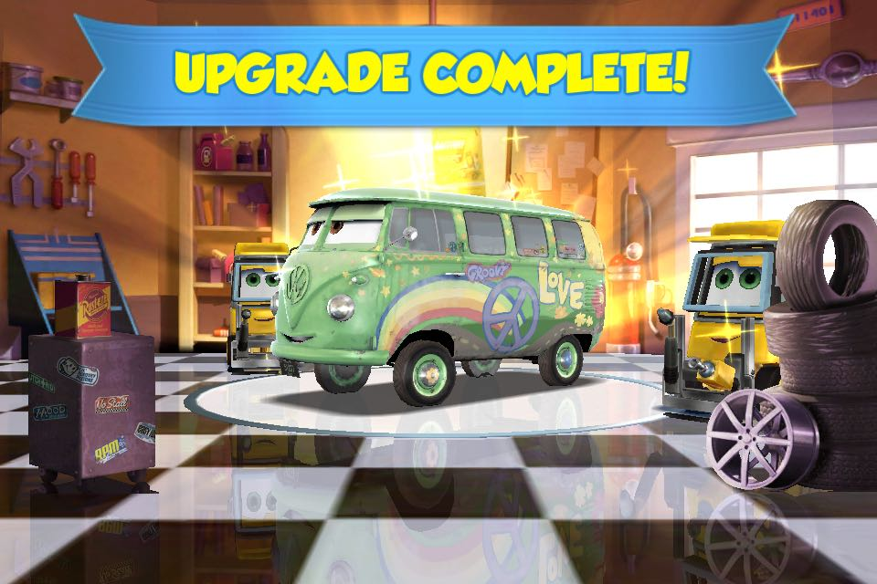 Don't forget to upgrade the car if you think the level is too hard