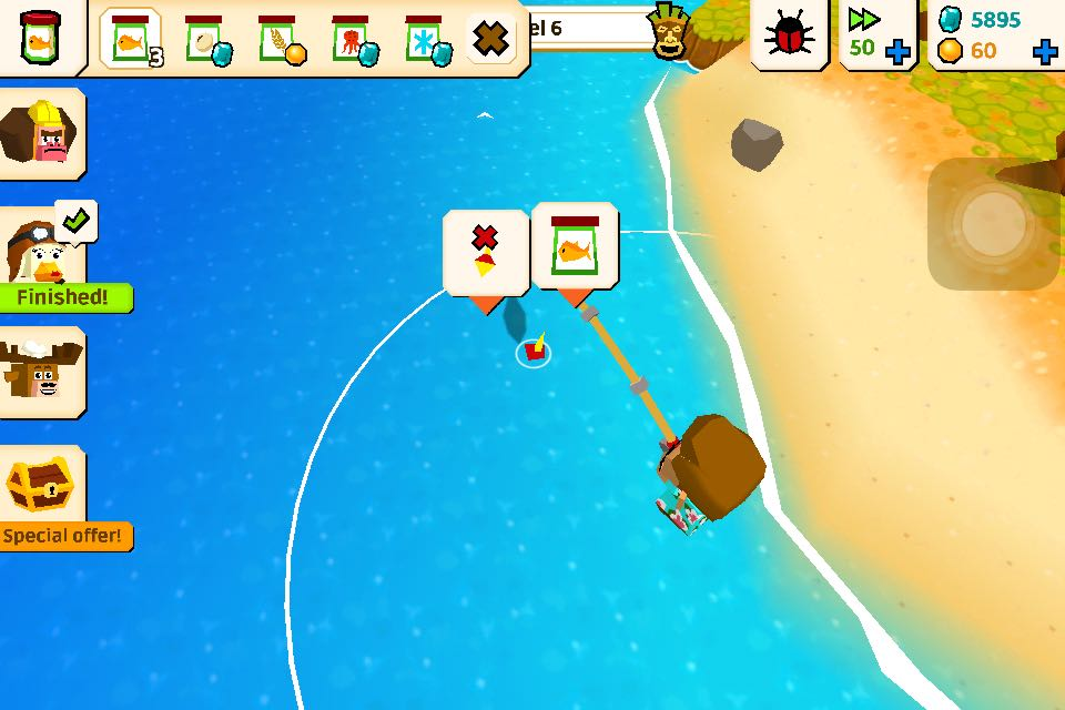 In Castaway Paradise, you can fishing and collect your catch or sell them in shop