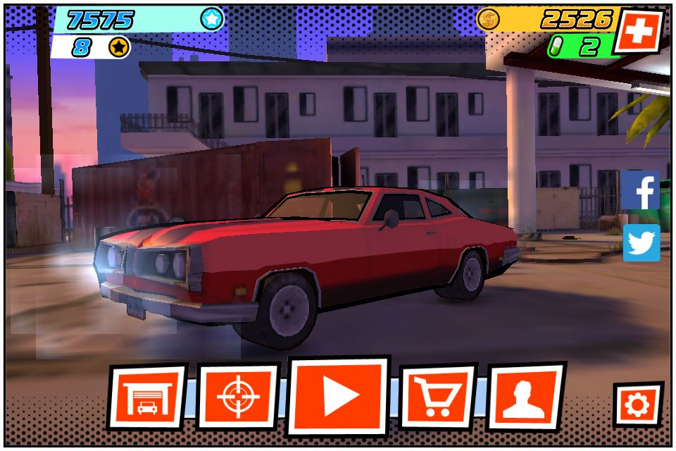 We will be racing using classic muscle cars with some upbeat BGM